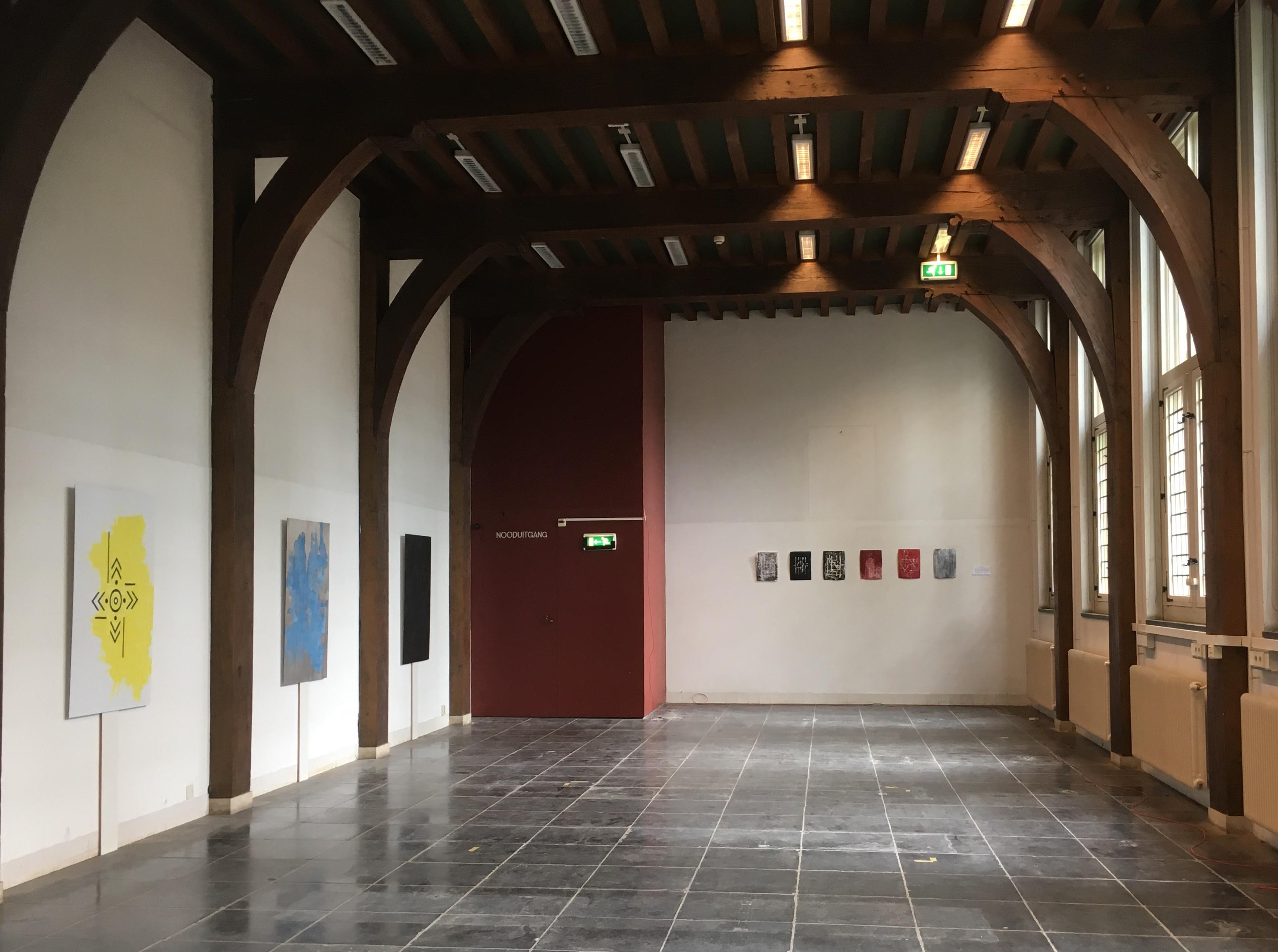 Eerste opzet van de expositie