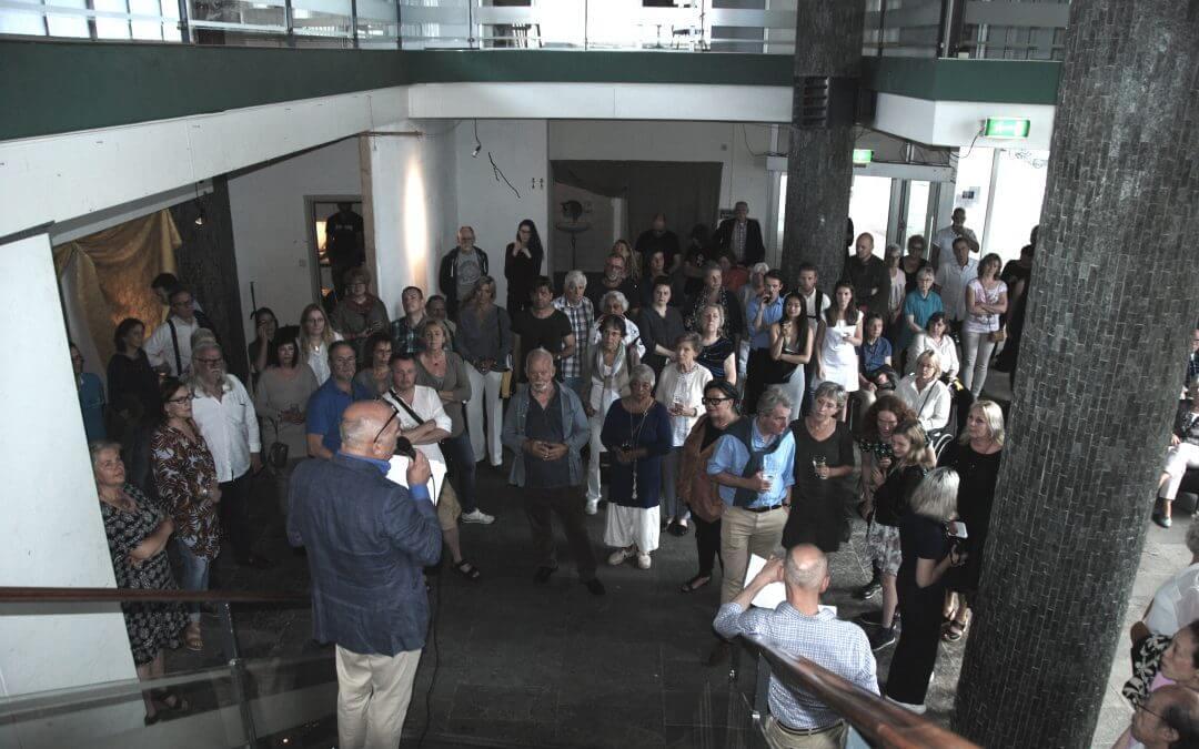 Opening eindexpositie in Slaakhuis te Rotterdam
