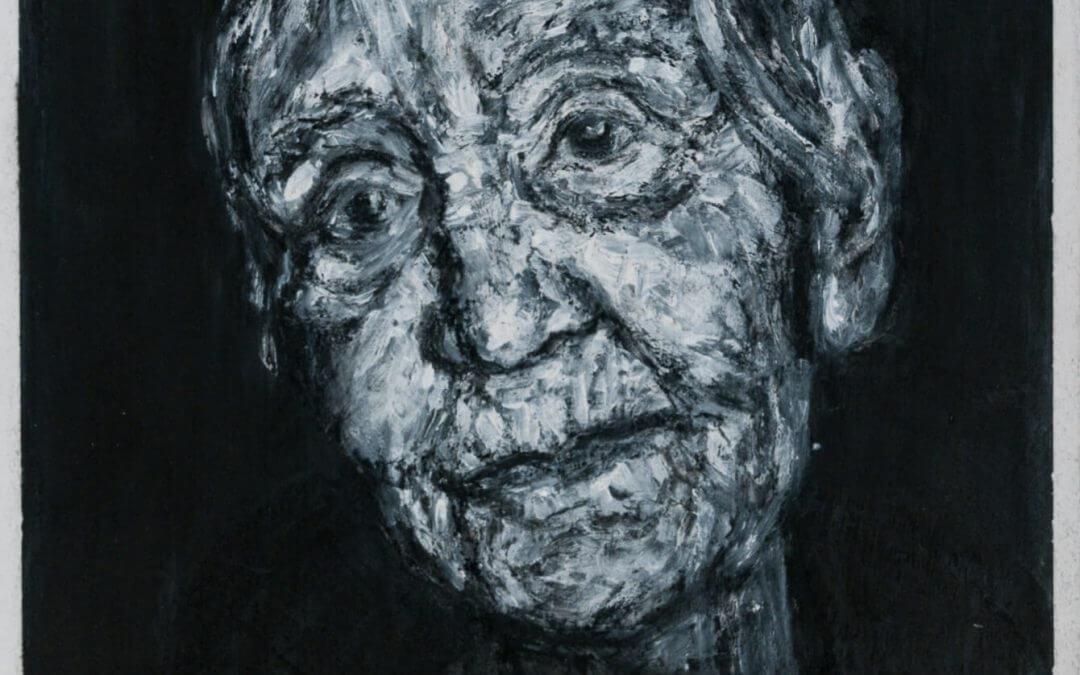 Een gedicht van Rob Haster bij het portret van een oude dame