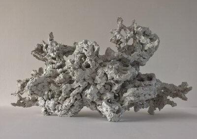 oer 1 papier op armatuur van ijzerdraad 44x14x25 cm (lxbxh)