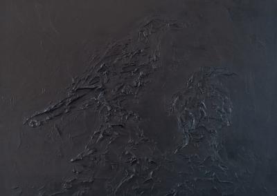 black raven, olieverf op doek 50x65 cm
