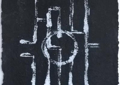 acryl op handgeschept papier 26x35 cm