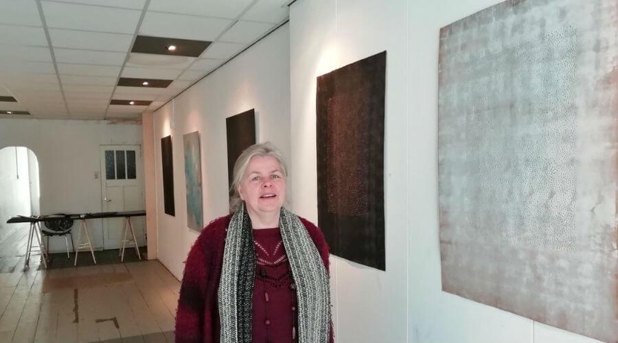 """Een stukje in Goudsdagblad over de expositie """"De Vijf"""""""