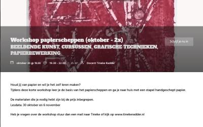 Workshops papierscheppen bij Kade40 in Vlaardingen