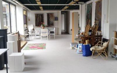 Nieuw atelier bij de KunstMaakPlaats aan de Limburg van Stirumstraat 10 in Gouda