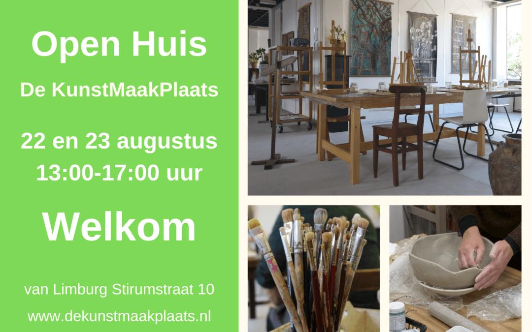 Open Huis de KunstMaakPlaats 22 en 23 augustus